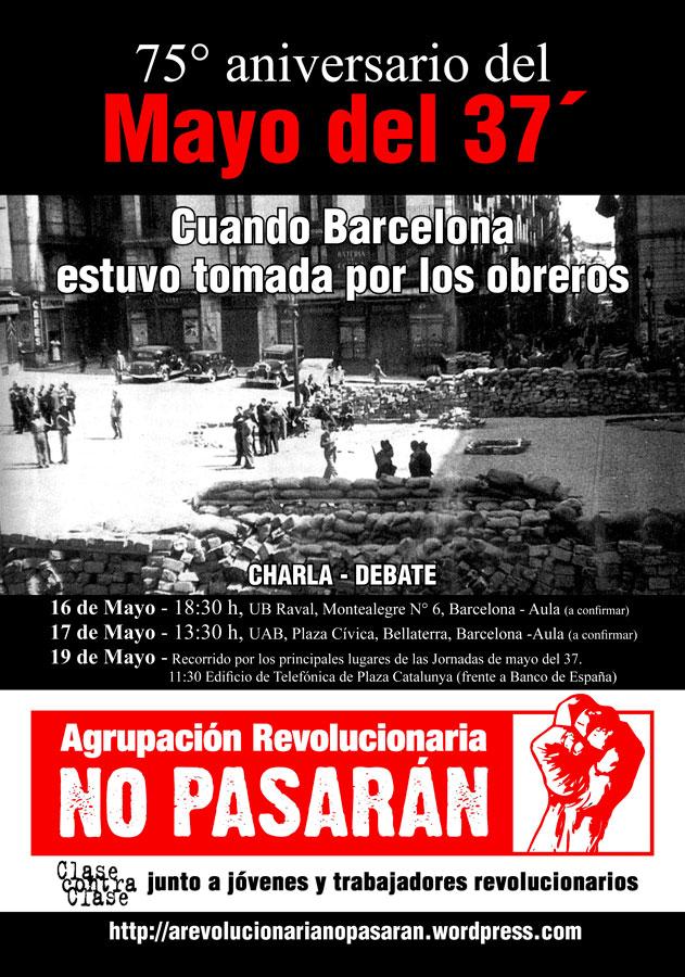 Barcelona: Charlas y actividades por el 75° aniversario del Mayo del ´37