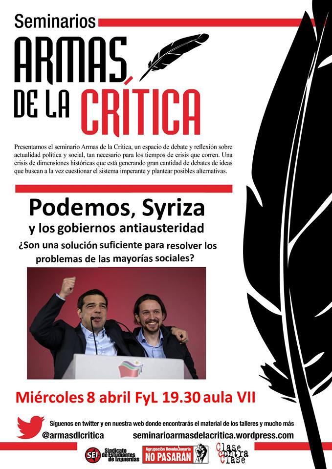 Inicio Seminario Armas de la Crítica en Zaragoza