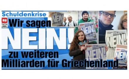 """El diario alemán BILD y su reaccionaria campaña de """"selfies"""" contra el pueblo griego"""