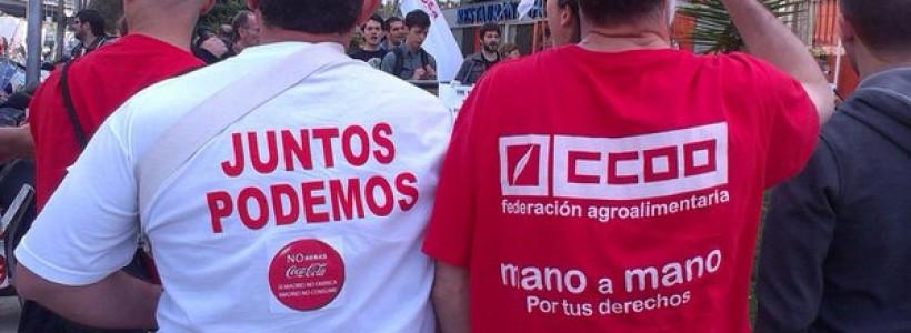Solidaridad desde Barcelona con Coca Cola