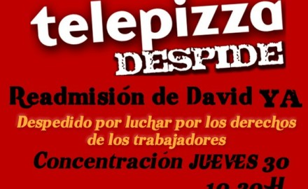 Conflicto sindical telepizza despide