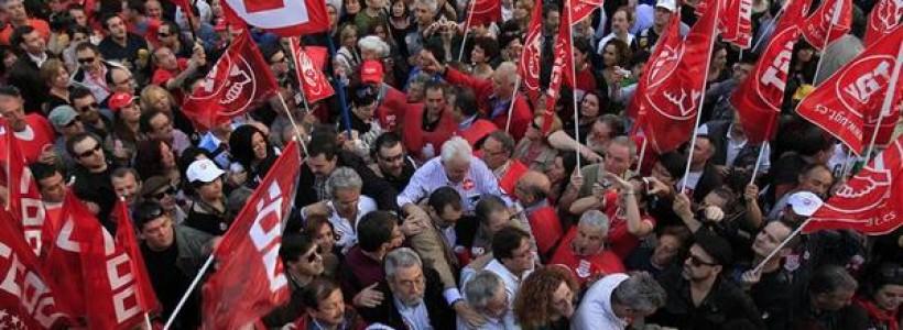 La recuperación de los grandes sindicatos y la crisis del Régimen del '78