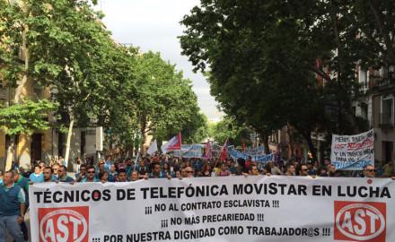 La Marea Azul de Movistar marchó nuevamente por las calles de Madrid
