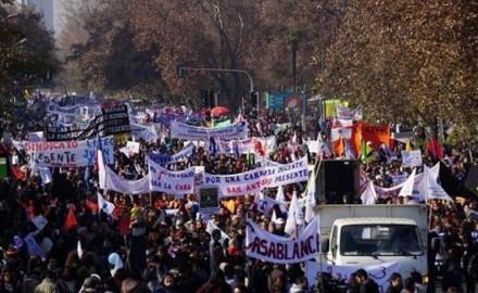 manifestaciones profesores chile