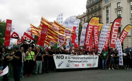 La lucha de Catalunya Caixa y cómo pagamos la crisis los trabajadores