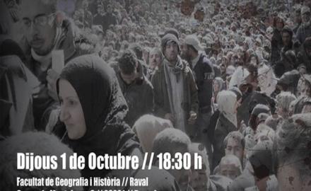 Charla refugiados barcelona