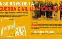 A 80 de la guerra civil y la revolución española: La victoria era posible